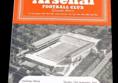 Grasshoppers (Zurich) v Arsenal 21.09.1954