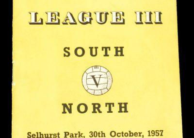 South v North 30.10.1957 | League 3