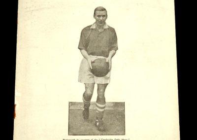 Cambridge United v International XI 19.03.1958