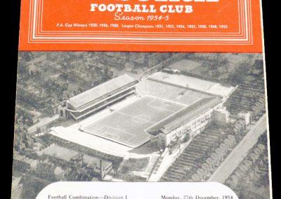 Millwall FC v Arsenal 27.12.1954