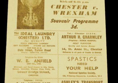 Chester v Wrexham 07.05.1958 | Welsh Senior Cup