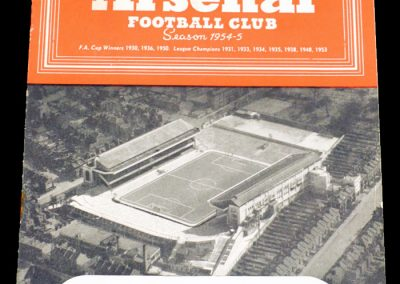 Arsenal v Cardiff City 08.01.1955 | FA Cup 3rd round