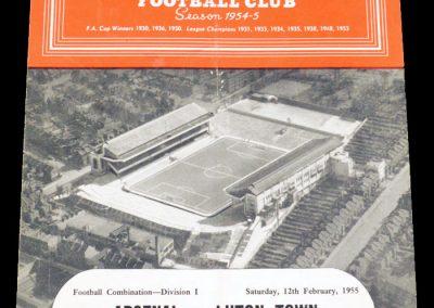 Luton Town v Arsenal 12.02.1955