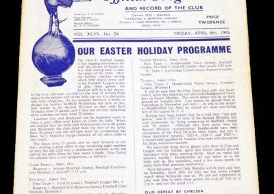 Tottenham hotspur v Arsenal Reserves 08.04.1955