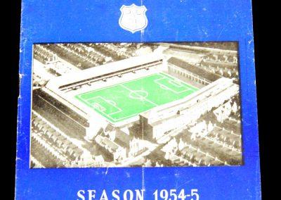Everton v Arsenal 25.08.1954