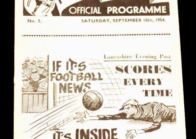 Preston North End v Arsenal 18.09.1954