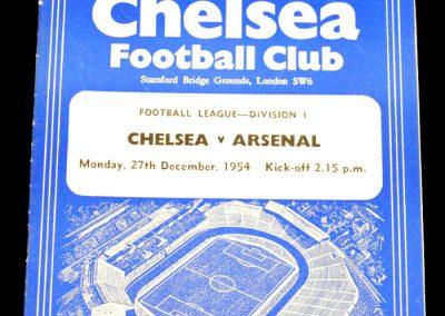 Chelsea v Arsenal 27.12.1954