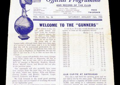 Tottenham Hotspur v Arsenal 15.01.1955