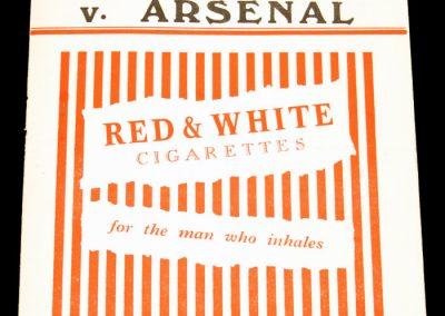 Charlton Athletic v Arsenal 05.03.1955
