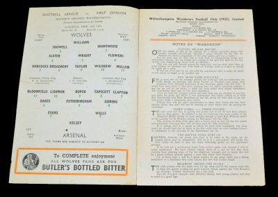 Wolverhampton Wanderers v Arsenal 16.04.1955