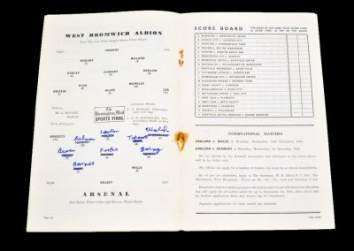 Arsenal v West Bromwich Albion 28.08.1954