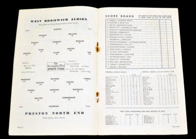 Preston North End v West Bromwich Albion 11.09.1954
