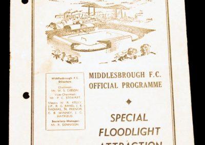 Middlesbrough FC v PSV Eindhoven (Holland) 27.03.1958