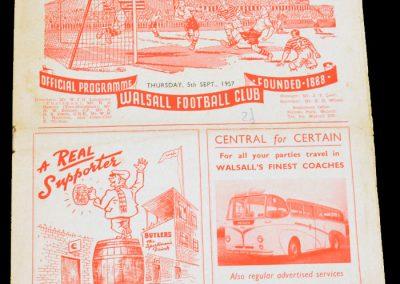 Walsall v Southampton 05.09.1957