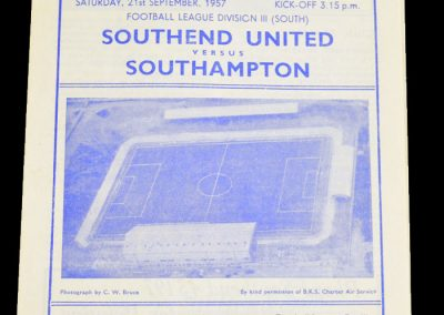 Southend United v Southampton 21.09.1957