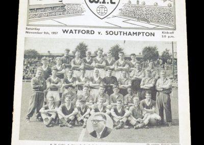 Watford v Southampton 09.11.1957