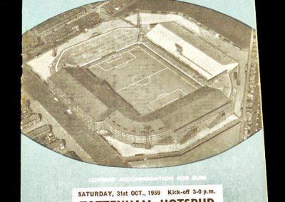 Manchester City v Tottenham Hotspur 31.10.1959