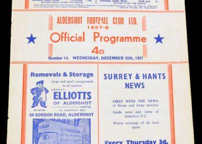 Aldershot v Southampton 25.12.1957