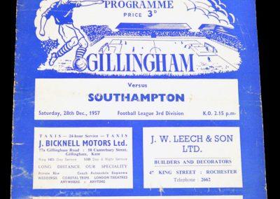 Gillingham v Southampton 28.12.1957