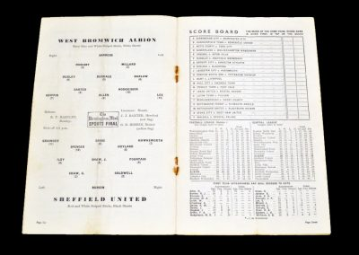 Sheffield United v West Bromwich Albion 12.03.1955