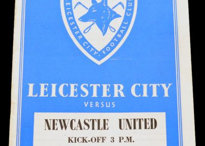 Leicester City v Newcastle United 18.09.1954