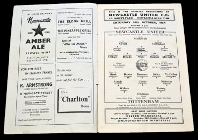 Tottenham Hotspur v Newcastle United 16.10.1954
