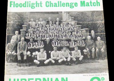 Hibernian v Newcastle United 27.10.1954