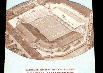 Bolton Wanderers v Manchester City 16.09.1961