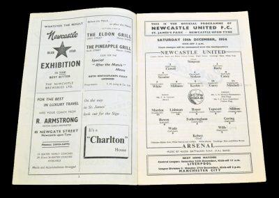 Arsenal v Newcastle United 18.12.1954