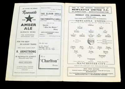 Manchester City v Newcastle United 27.12.1955