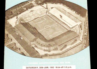 Arsenal v Manchester City 20.01.1962