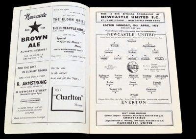 Everton FC v Newcastle United 11.04.1955