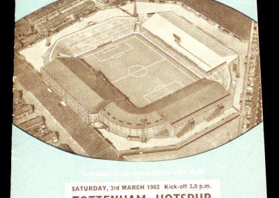 Tottenham Hotspur v Manchester City 03.03.1962