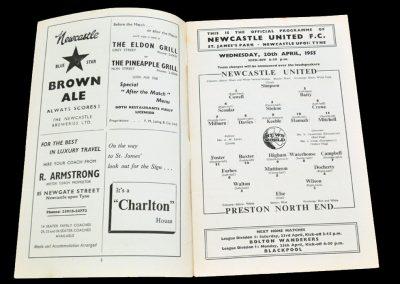 Preston North End v Newcastle United 20.04.1955