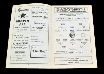 Cardiff City v Newcastle United 27.04.1955