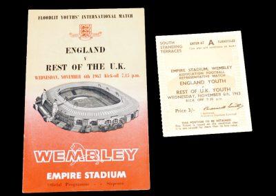 England v Rest Of The UK 06.11.1963 | & Ticket