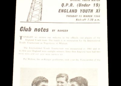 Queens Park Rangers v England Youth XI 15.03.1966