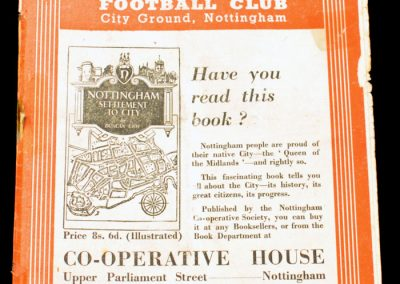 Nottingham Forest v Newcastle United 19.02.1955 | FA Cup 5th Round