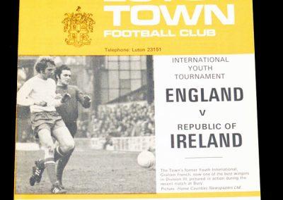 England v Republic of Ireland 04.02.1970