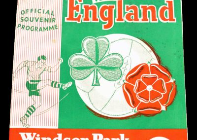 Northern Ireland v England 08.10.1960