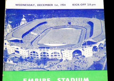England v West Germany 01.12.1954