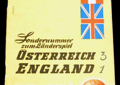 Austria v England 27.05.1961