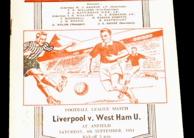 Liverpool v West Ham United 04.09.1954