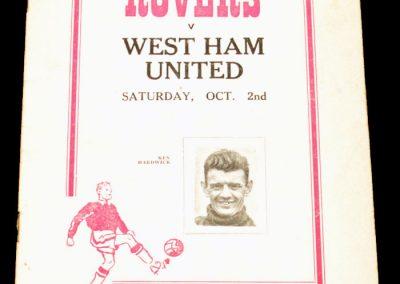 Doncaster Rovers v West Ham United 02.10.1954