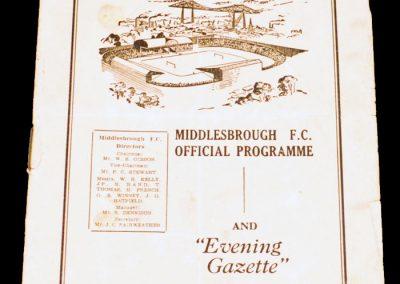 Middlesbrough FC v West Ham United 30.10.1954