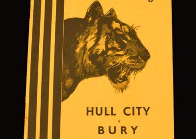 Hull City v Bury 11.04.1955