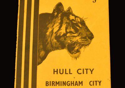 Hull City v Birmingham City 25.04.1955