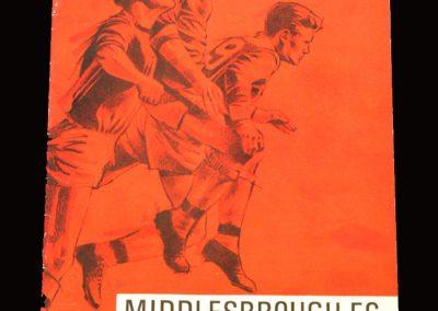 Middlesbrough v Newcastle 08.08.1967 - Friendly