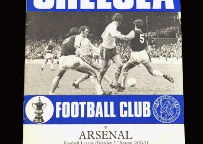Chelsea v Arsenal 29.08.1970