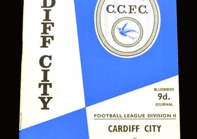 Middlesbrough v Cardiff 24.10.1967